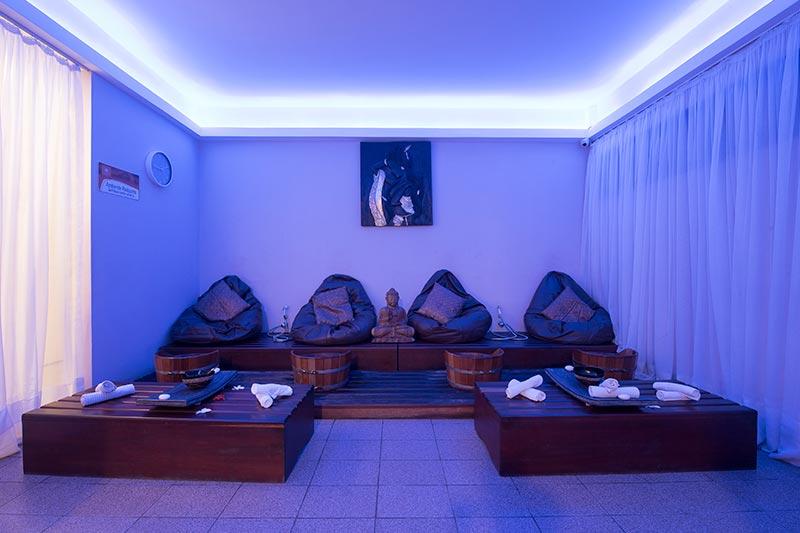 Ambientes do Spa com tratamentos de estética e corporal