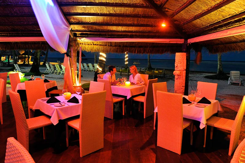 Restaurante frente mar ideal para noites romanticas