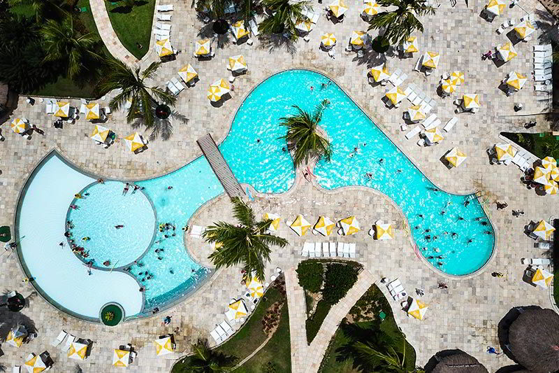 Vista áerea piscina principal Salinas Maragogi